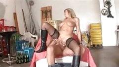 My Sexy Piercings – pierced german MILF in stockings fucked